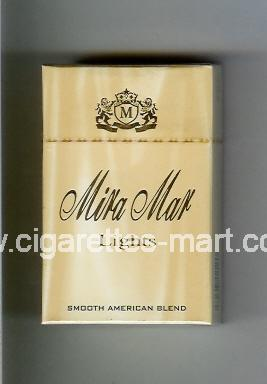 Mira Mar (design 2) (Lights / Smooth American Blend) ( hard box cigarettes )