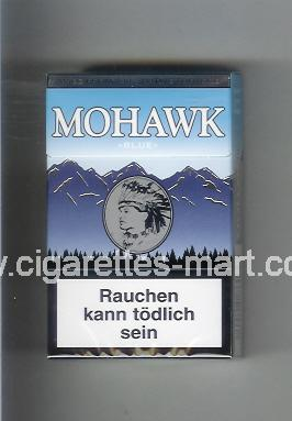 Mohawk (design 3) Blue ( hard box cigarettes )