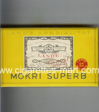 Mokri (design 1B) Superb (Lande) ( box cigarettes )