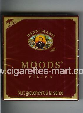 Moods (german version) (design 1) Dannemann (Filter) ( box cigarettes )