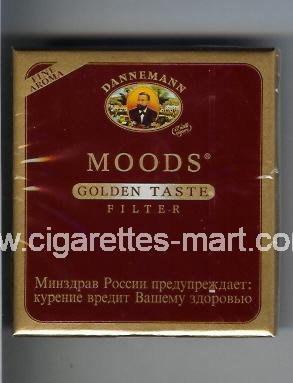 Moods (german version) (design 1) Dannemann (Golden Taste / Filter) ( box cigarettes )