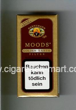 Moods (german version) (design 1) Dannemann (Golden Taste / Filter) ( hard box cigarettes )
