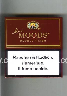 Moods (german version) (design 1A) Dannemann (Mini / Double Filter) ( box cigarettes )