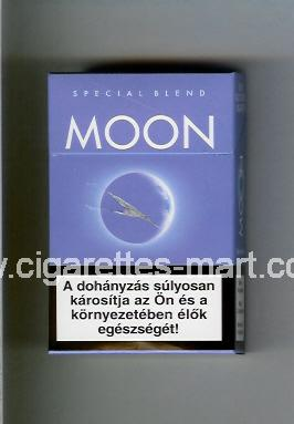 Moon (german version) (design 1) (Special Blend) (light blue) ( hard box cigarettes )