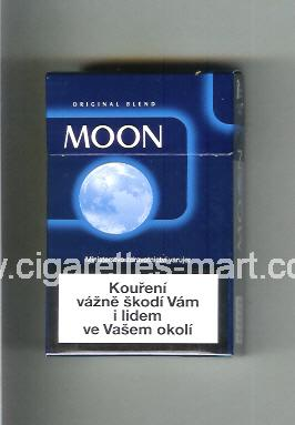 Moon (german version) (design 3A) (Original Blend) (blue) ( hard box cigarettes )