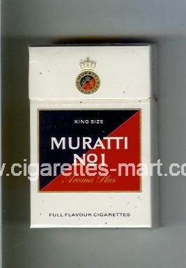 Muratti (german version) (design 6) No 1 (Aroma Plus / Full Flavour Cigarettes) ( hard box cigarettes )