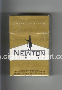 Newton (Lights / American Blend) ( hard box cigarettes )