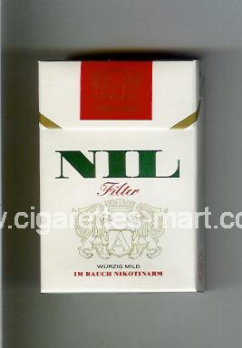 Nil (german version) (design 2) (Filter / Wurzig Mild) ( hard box cigarettes )