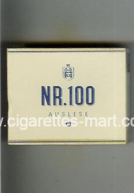 NR.100 (Auslese) ( box cigarettes )
