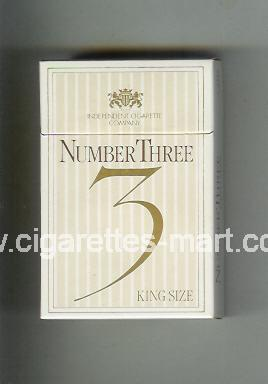 Number Three 3 ( hard box cigarettes )
