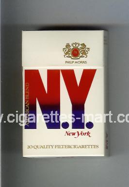 N.Y. (New York / American Blend) ( hard box cigarettes )