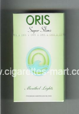Oris (design 1) (Super Slims / Menthol Lights / Premium American Blend) ( hard box cigarettes )