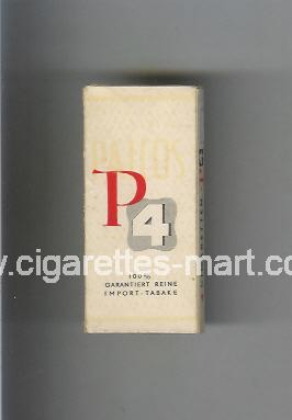 P 4 (german version) (design 1) ( hard box cigarettes )