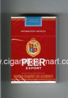 Peer (design 9) (Export / Aromatisch Wurzig) ( hard box cigarettes )