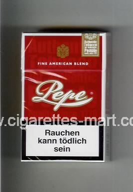 Pepe (design 2) (Fine American Blend) ( hard box cigarettes )