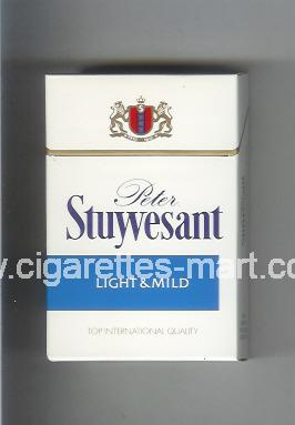 Peter Stuyvesant (design 1) (Light & Mild) ( hard box cigarettes )