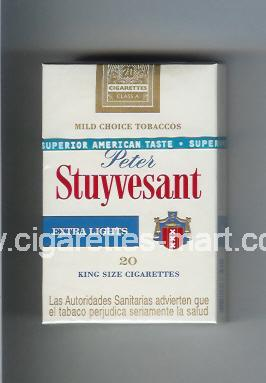 Peter Stuyvesant (design 2) (Extra Lights) ( hard box cigarettes )