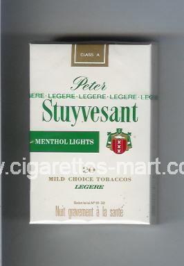 Peter Stuyvesant (design 2) (Menthol Lights) ( hard box cigarettes )