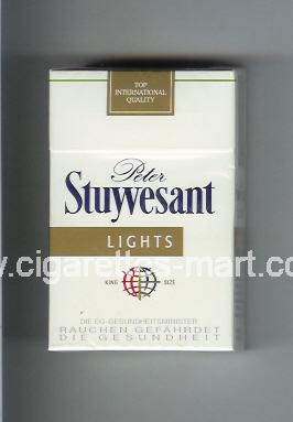 Peter Stuyvesant (design 4) (Lights) ( hard box cigarettes )
