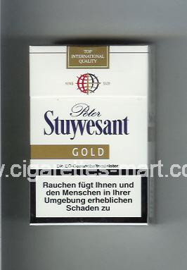 Peter Stuyvesant (design 4B) (Gold) ( hard box cigarettes )