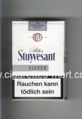 Peter Stuyvesant (design 4B) (Silver) ( hard box cigarettes )
