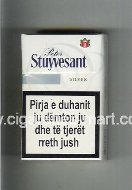 Peter Stuyvesant (design 6) Silver ( hard box cigarettes )