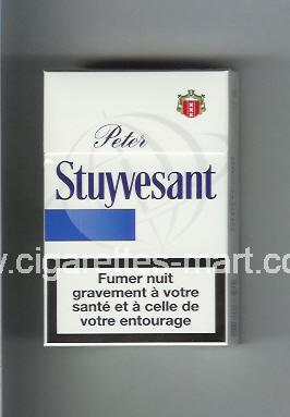 Peter Stuyvesant (design 6) (white & blue) ( hard box cigarettes )