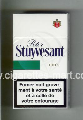 Peter Stuyvesant (design 6) (white & green) ( hard box cigarettes )