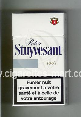 Peter Stuyvesant (design 6) (white & grey) ( hard box cigarettes )