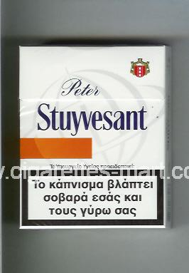 Peter Stuyvesant (design 6) (white & orange) ( hard box cigarettes )