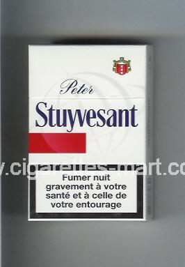 Peter Stuyvesant (design 6) (white & red) ( hard box cigarettes )