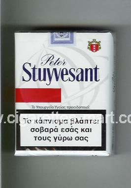 Peter Stuyvesant (design 6) (white & red) ( soft box cigarettes )