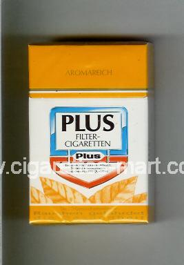 Plus (german version) (design 2) (Aromareich / Filter-Sigaretten) ( hard box cigarettes )
