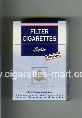 Plus (german version) (design 3) Filter Cigaretten (Lights) ( hard box cigarettes )