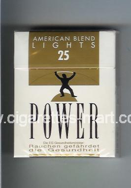 Power (german version) (design 1) (American Blend / Lights) ( hard box cigarettes )