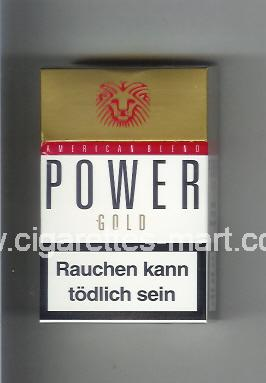 Power (german version) (design 2) (American Blend / Gold) ( hard box cigarettes )