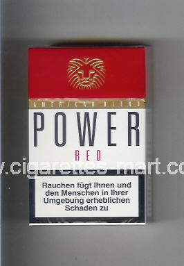 Power (german version) (design 2) (American Blend / Red) ( hard box cigarettes )