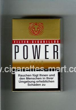 Power (german version) (design 2) (Filter Cigarillos / Gold) ( hard box cigarettes )