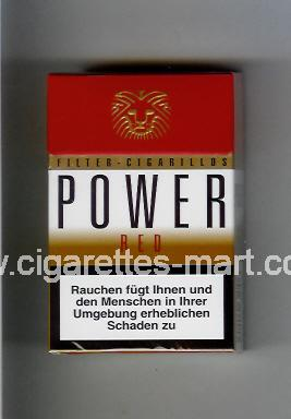 Power (german version) (design 2) (Filter Cigarillos / Red) ( hard box cigarettes )