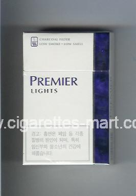 Premier (german version) (design 1) (Lights) ( hard box cigarettes )