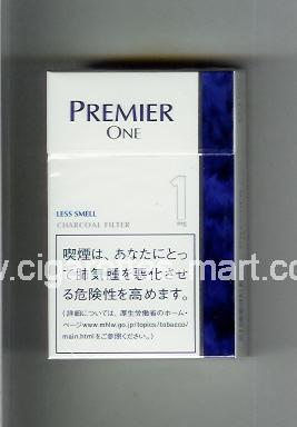 Premier (german version) (design 1) (One / 1 mg) ( hard box cigarettes )