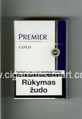 Premier (german version) (design 2) (Gold) ( hard box cigarettes )