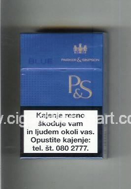P&S (design 3A) (Blue) ( hard box cigarettes )