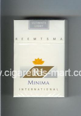 R 1 (design 2) (Minima / Ultimate Light / International) ( hard box cigarettes )