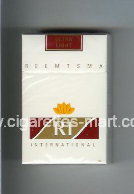 R 1 (design 2) (Ultra Light / International) ( hard box cigarettes )