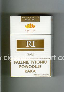 R 1 (design 3) (American Blend / Gold) ( hard box cigarettes )