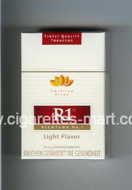 R 1 (design 3) (American Blend / Light Flavor) ( hard box cigarettes )