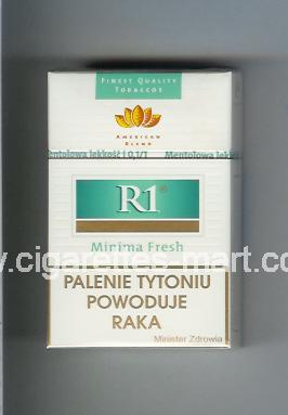 R 1 (design 3) (American Blend / Minima Fresh) ( hard box cigarettes )