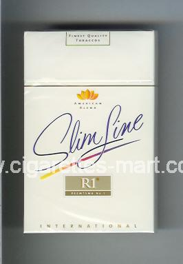 R 1 (design 3) (American Blend / Slim Line / International) ( hard box cigarettes )