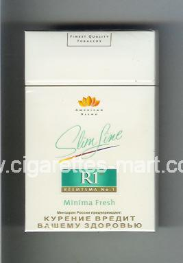 R 1 (design 3) (American Blend / Slim Line / Minima Fresh) ( hard box cigarettes )